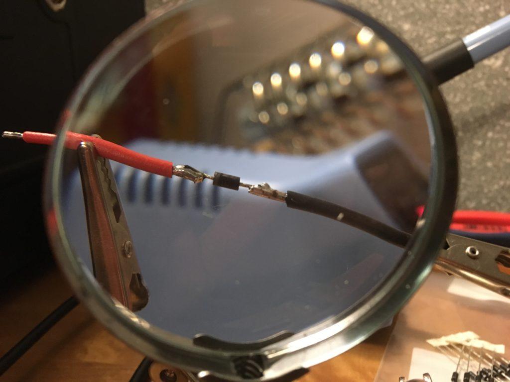 Freilaufdiode mit umgekehrter Polung an die Schütze