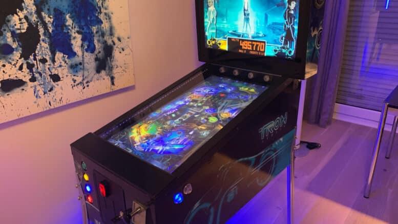 "Virtual Pinball Cabinet Tron Movie Theme DIY - 32"" Playfield, 19"" Backbox."