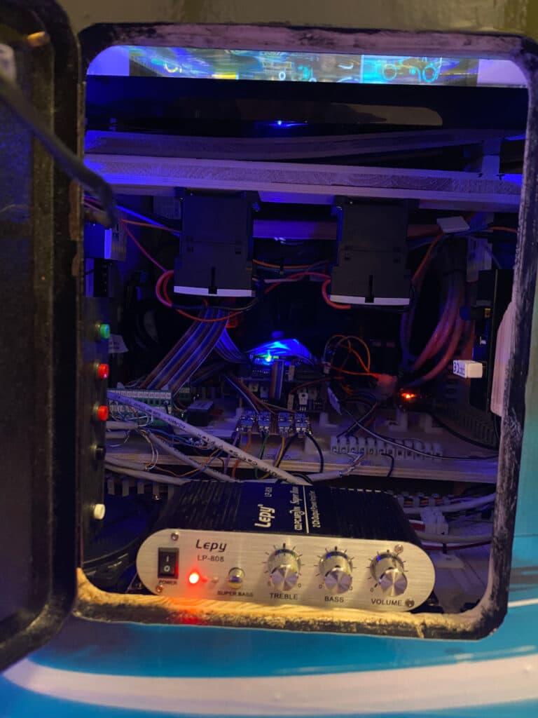 Peek through the coin door into my virtual pinball cabinet